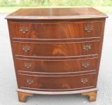 Georgian Style Small Bowfront Chest of Drawers